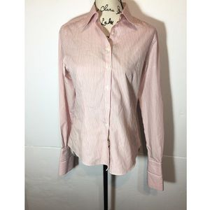 Brooks Brothers Striped Button Down Collared Shirt